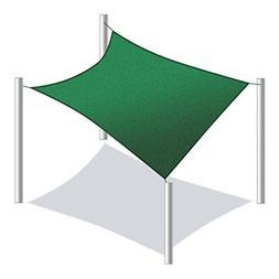 ALEKO Rectangle 18 X 18 Feet Waterproof Sun Shade Sail Canop