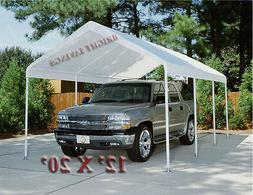 WHITE REPLACEMENT CANOPY TENT CARPORT 12' X 20' TOP COVER DO