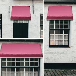 Window Awning Door Canopy Sun Rain Shade Shelter Burgundy, B