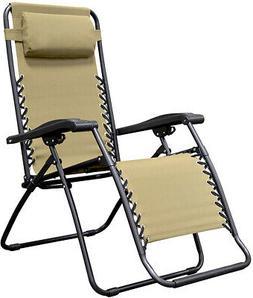 Zero Gravity patio chair Outdoor Furniture Comfort Headrest